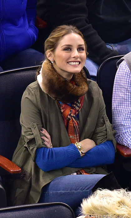 Olivia Palermo found the perfect balance between bundled-up and chic for a Madison Square Gardens match between the Ottawa Senators and the New York Rangers in April 2015.
