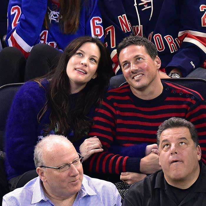 Liv Tyler and Dave Gardner had a date night on April 9, 2015 at Madison Square Garden, where the New York Rangers were playing the Ottawa Senators. (Photo: Getty Images)