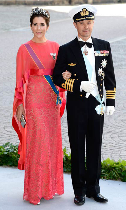 All eyes were on Mary in this fuchsia number at the wedding of Princess Madeleine of Sweden and Christopher O'Neill.