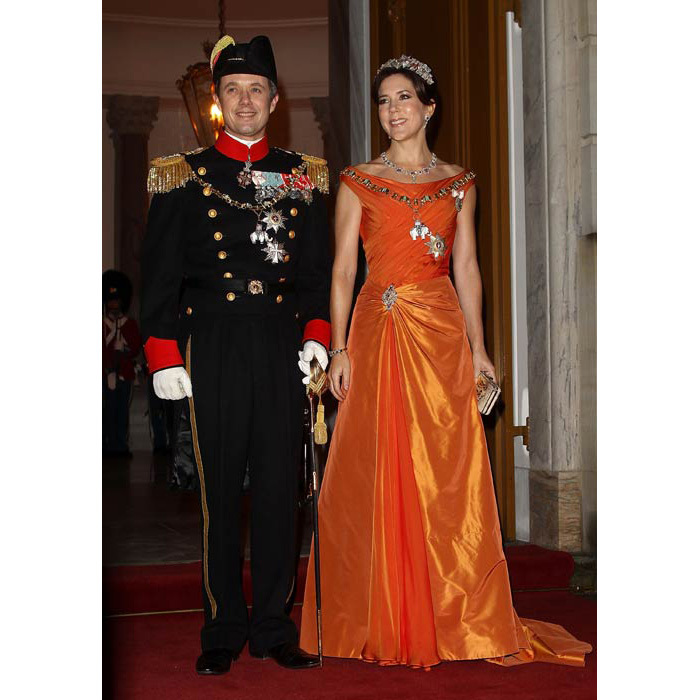 A tangerine dream at the New Year's Banquet at Christian VII's Palace in 2013.