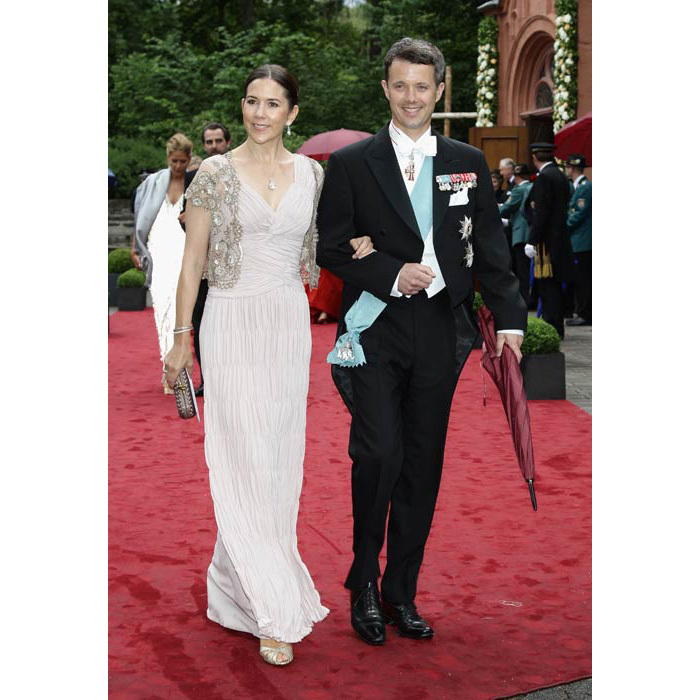 Stunning in a floor-length number during a visit to Germany for the wedding of Princess Nathalie zu Sayn-Wittgenstein-Berleburg and Johannsmann.