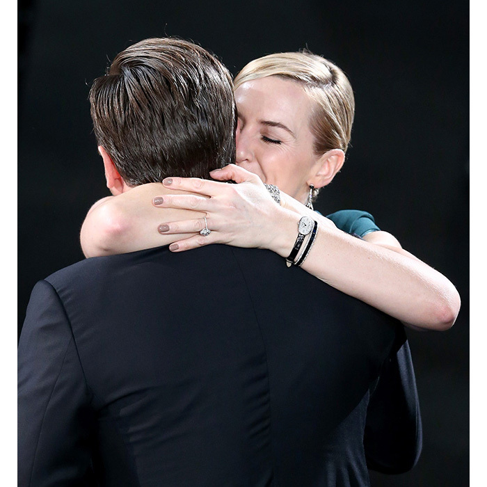 Never letting go! Kate embraced her former <em>Titanic</em> co-star after his Outstanding Performance by a Male Actor win at the 2016 SAG Awards. These two have certainly proven that their friendship is one that will go on ... and on.