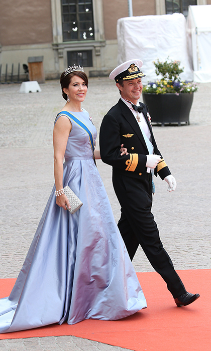 Mary was ahead of the game when she stepped out in this serenity-blue gown at the 2015 wedding of Prince Carl Philip and Princess Sofia of Sweden. Pantone would later dub the enchanting shade one of 2016's colours of the year. 