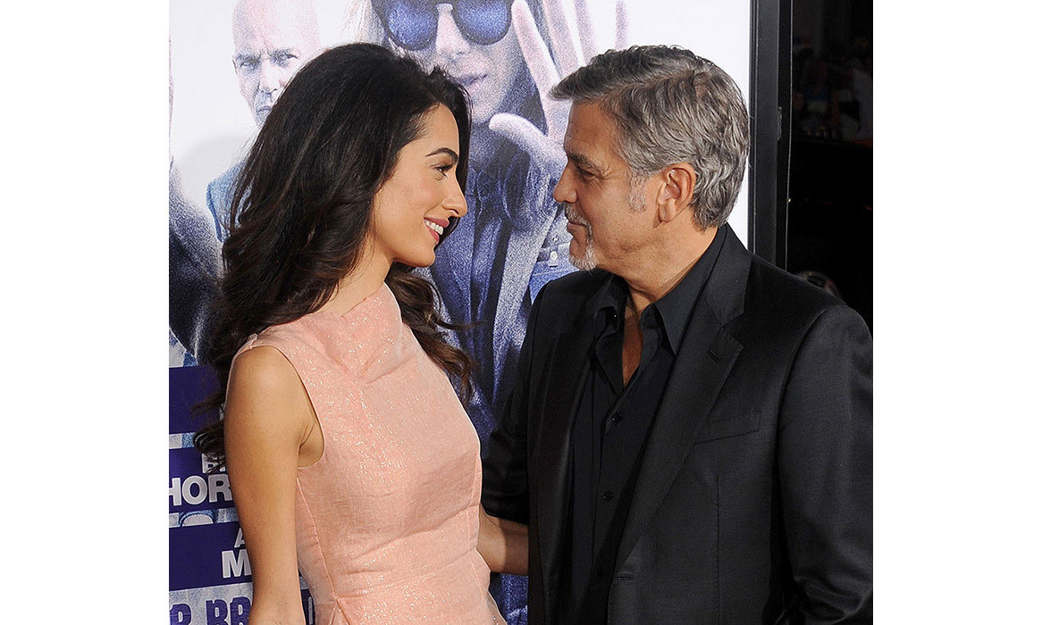 <strong>George and Amal Clooney</strong>