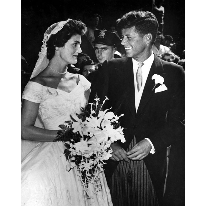 <strong>John F. Kennedy and Jackie Kennedy