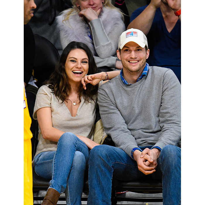 <strong>Mila Kunis and Ashton Kutcher