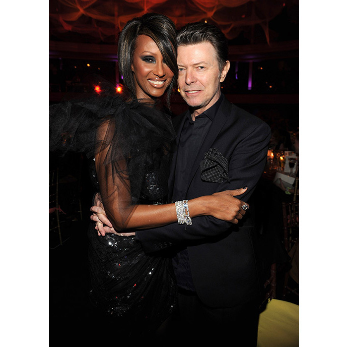 <strong>David Bowie and Iman</strong>