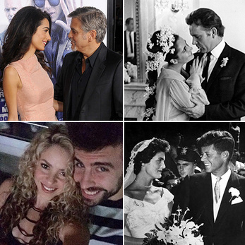 Onscreen, making sweeping romantic gestures and speaking dramatically of matters of the heart is nothing new for Hollywood and social elite, but when some smitten celebrities find their special someones they can't wait to bring their loved-up feelings to light. 