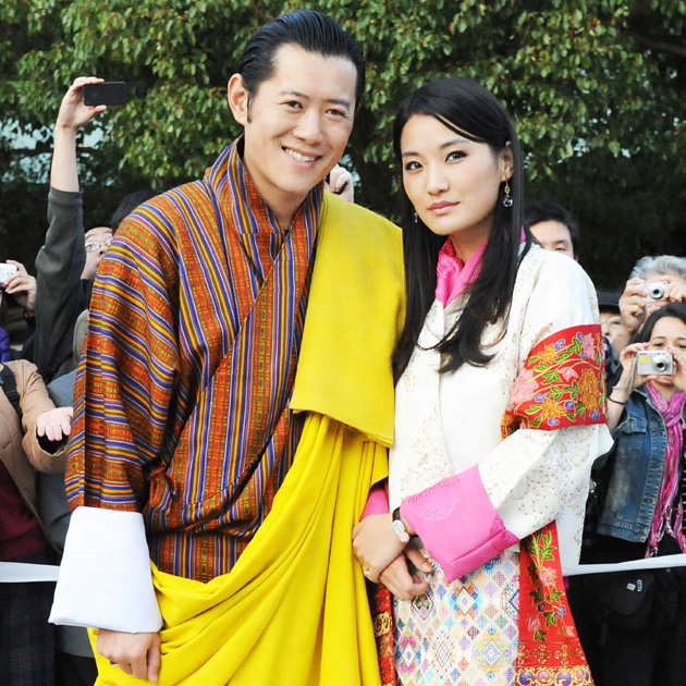 King Jigme Khesar Namgyel Wangchuck and his wife Jetsun Pema