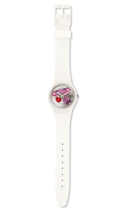 <p><strong>Swatch Tender Present Valentine's Day watch</strong>, $90,