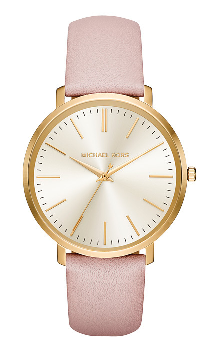 <p><strong>Michael Kors Jaryn leather watch</strong>, $270,