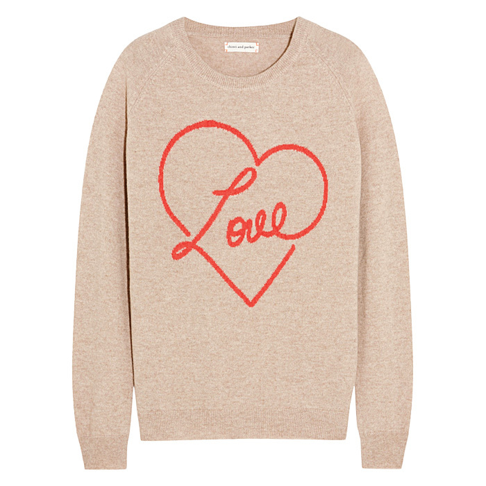 <p><strong>Chinti and Parker Love intarsia cashmere sweater</strong>, $810,