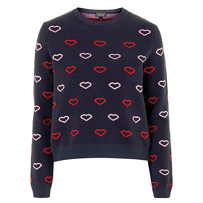 <p><strong>Heart sweater</strong>,$79,