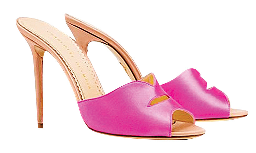 <p><strong>Charlotte Olympia Kiss My Feet sandals</strong>, $895,