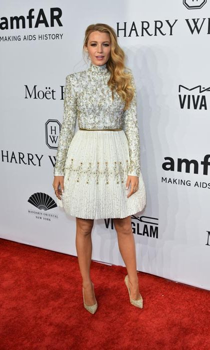 Blake wore a Chanel dress.