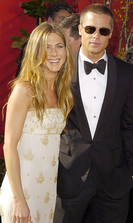 On the red carpet with Brad in 2004