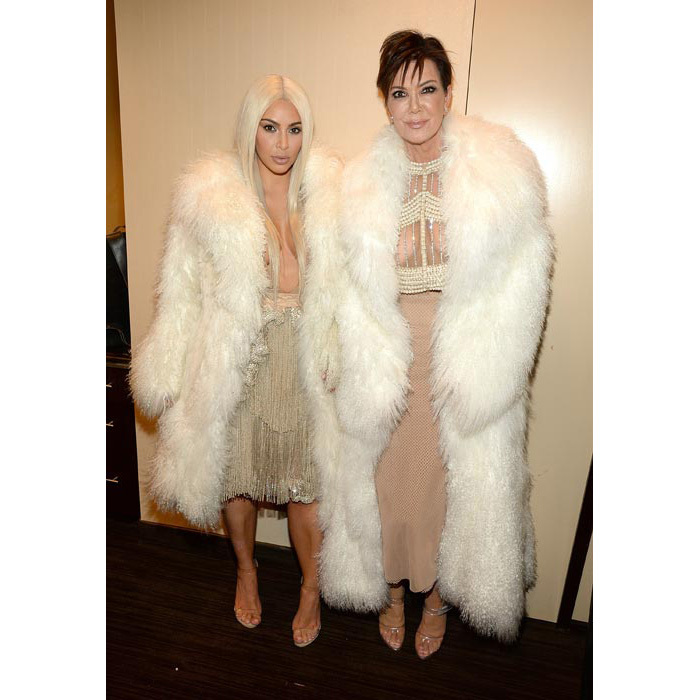Kim and mum Kris Jenner wore almost identical outfits.