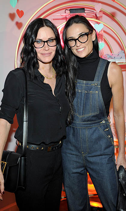 All eyes were on Courteney Cox and Demi Moore at the launch of the Superga XO Jennifer Meyer jewellery collection in Los Angeles. 