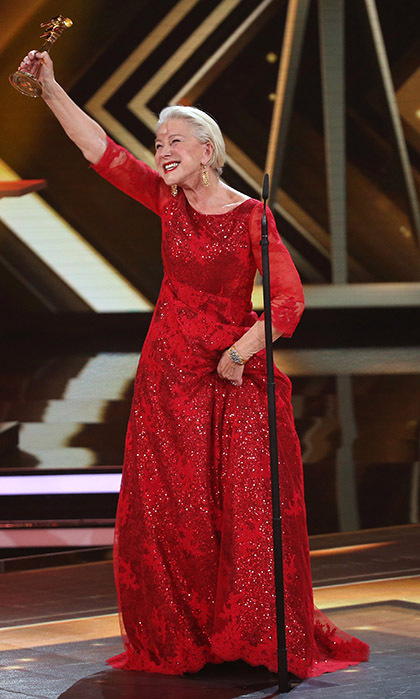 This week, Dame Helen Mirren picked up another award for her trophy case! The Oscar winner received Germany's Golden Camera award for her work on stage, screen and television.