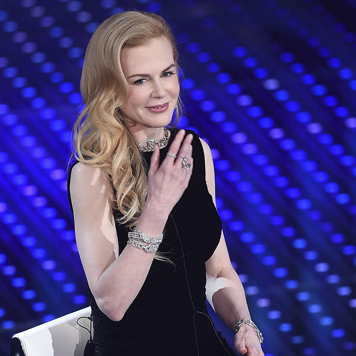 Nicole Kidman rocked some major bling during the second night of the 66th Festival di Sanremo in Italy.