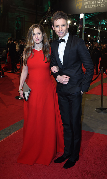 Eddie Redmayne and wife Hannah. 