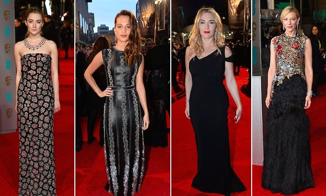 Saoirse Ronan, Alicia Vikander, Kate Winslet, Cate Blanchett and more of Hollywood's most glamorous stars stepped out in dazzling gowns at the 2016 BAFTA Awards in London.
