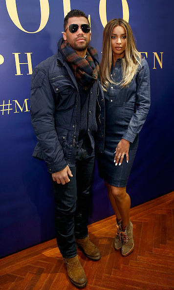 Ciara and beau Russell Wilson at the Polo Ralph Lauren show.
