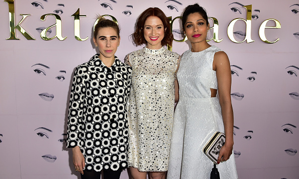 Zosia Mamet, Ellie Kemper and Freida Pinto at Kate Spade's presentation.