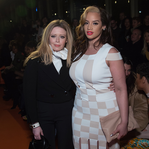 <i>Orange is the New Black</i> stars Natasha Lyonne (L) and Dascha Polanco at Opening Ceremony.