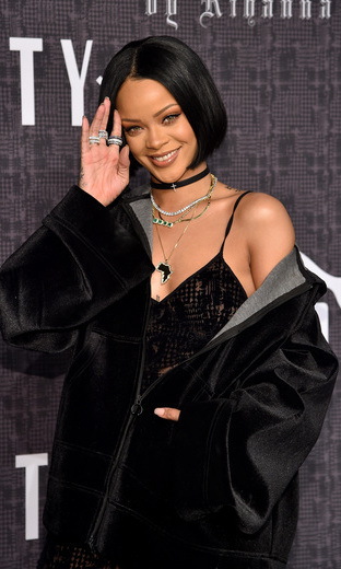 Rihanna was on hand to see her first Fenty Puma by Rihanna collection walk the runway at NYFW. 