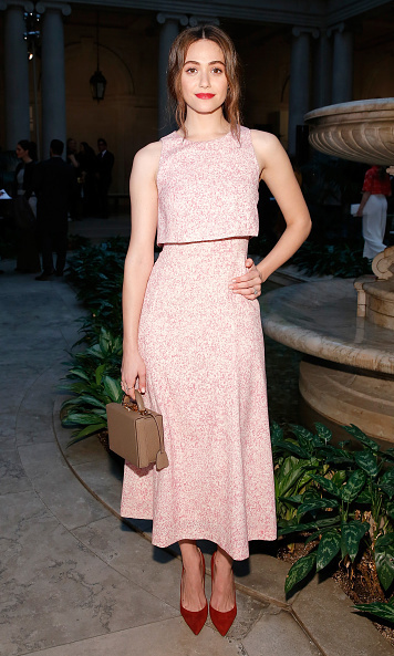 Emmy Rossum at Carolina Herrera.