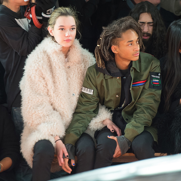 Jaden Smith cuddled up with girlfriend Sarah Snyder at Opening Ceremony.