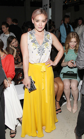Hilary Duff at the Jenny Packham presentation.