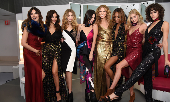 Models kick back behind-the-scenes at Diane von Furstenberg. 