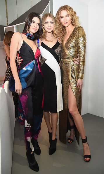 Catwalk stars Kendall Jenner, Gigi Hadid and Karlie Kloss pose backstage at Diane von Furstenberg. 