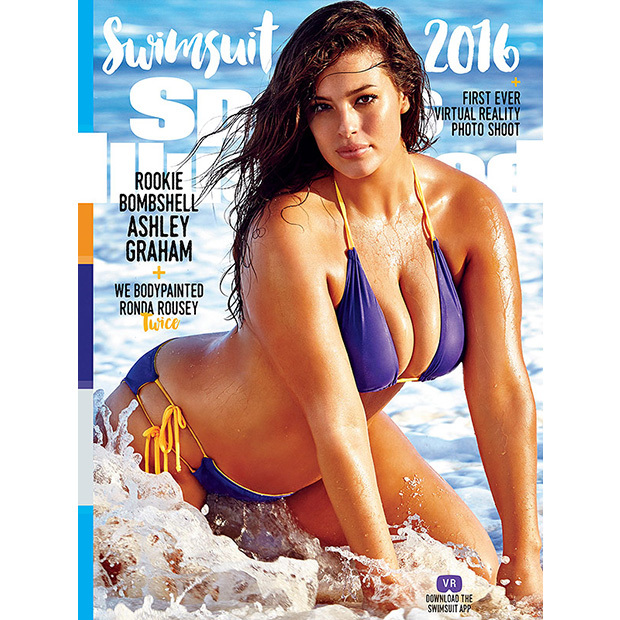 Ashley stars in one of three covers for the 2016 <i>Sports Illustrated</i> swimsuit issue. 