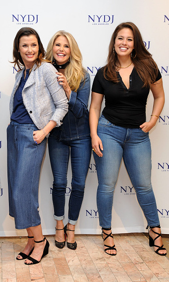 "After landing the coveted <i>Sports Illustrated</i> cover, she declared, ""This is for all the women who didn't think they were beautiful because of their size!"" Here she's seen with Bridget Moynahan and Christie Brinkley at the NYDJ 2016 Fit To Be Campaign launch at Lord & Taylor.
