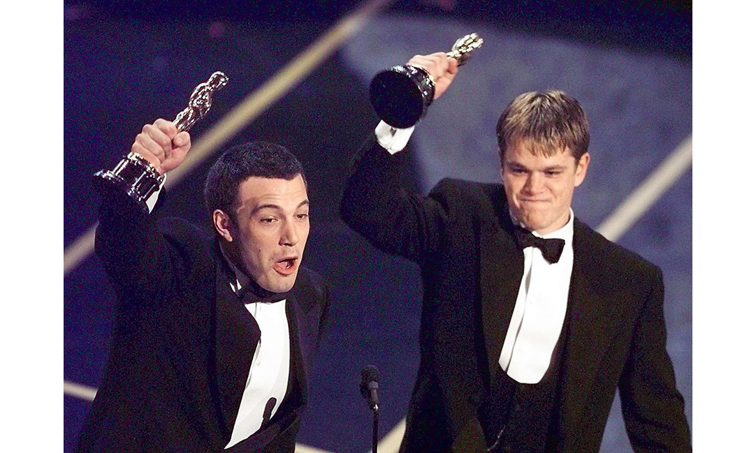 <strong>Best friends Ben Affleck and Matt Damon triumph</strong>