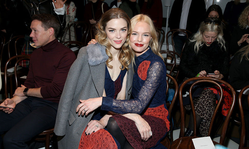Jaime King and Kate Bosworth were seated in the front row at Tory Burch.