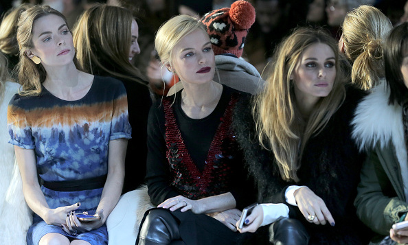 Jaime King, Kate Bosworth and Olivia Palermo attend the Altuzarra Fall 2016 fashion show where models and guests sipped FIJI Water backstage.