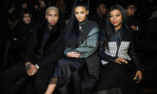 Tyga, Kylie Jenner and actress Taraji P. Henson at Alexander Wang