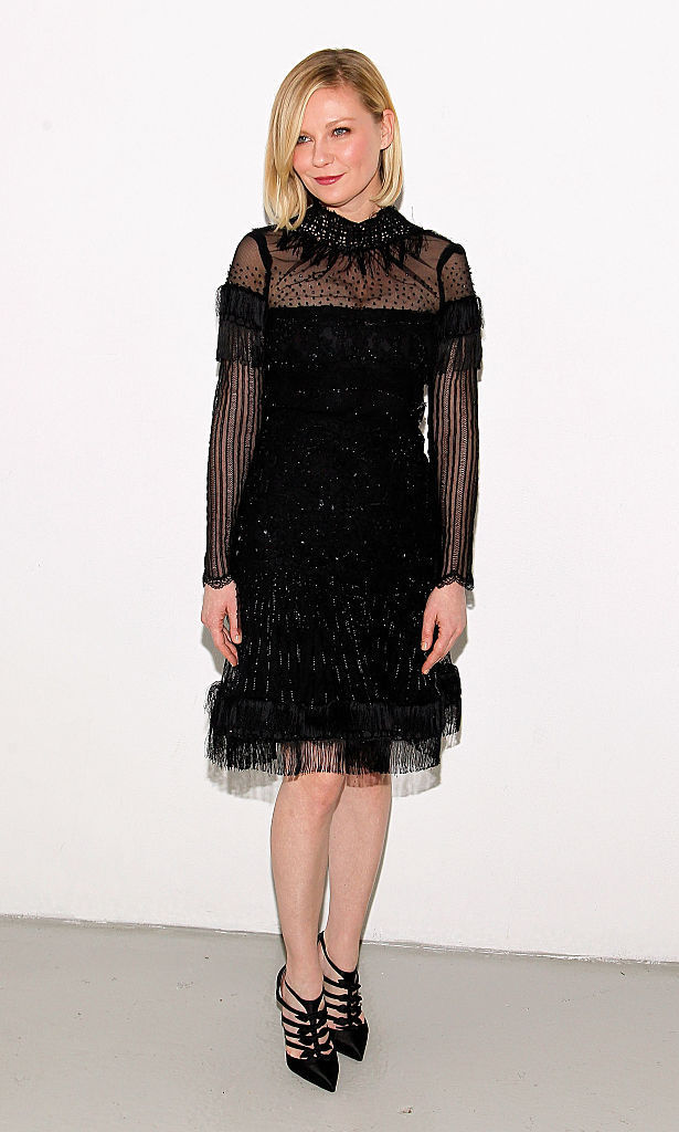 Kirsten Dunst was chic in a LBD at Rodarte.