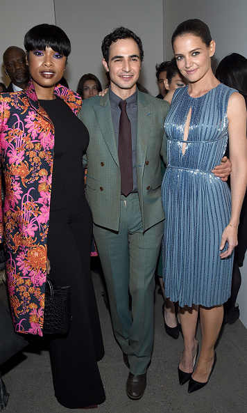 Jennifer Hudson and Katie Holmes supported good pal Zac Posen at his show.