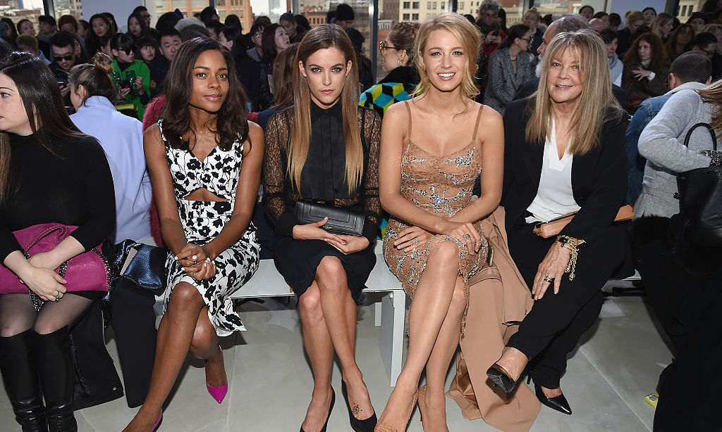 What a pretty front row! Naomie Harris, Riley Keough, Blake Lively and her mother Elaine Lively had some of the best seats in the house at the Michael Kors' fall 2016 runway show.