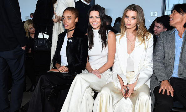 Model off duty! Kendall Jenner was able to sit front row at the Calvin Klein show (seated next to Adwoa Aboah and Abbey Lee Kershaw) instead of strutting her stuff on the runway.