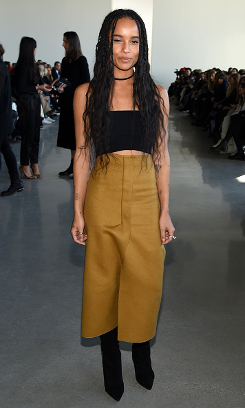 Zoe Kravitz was all smiles at Calvin Klein.