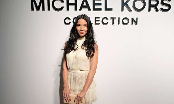 Olivia Munn opted for a mini as she sat front row at the Michael Kors presntation.