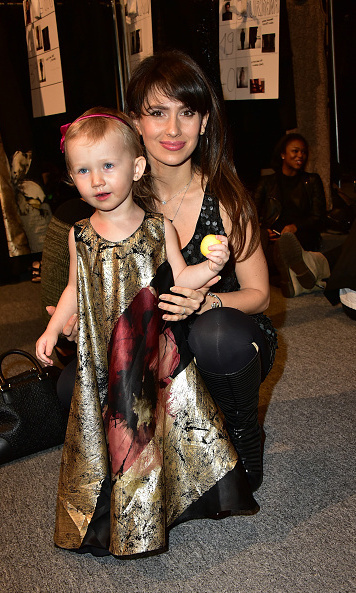 Hilaria Baldwin took her adorable daughter Carmen, who got dolled up for the occasion, to the Carmen Marc Valvo show.