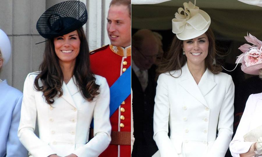 Style in black and white! Maybe because it goes with any neutral hat, this Alexander McQueen dress was clearly a hit with the duchess. She not only wore it during the Trooping the Colour ceremony in 2011 but also a week later to attend the annual Order of the Garter Service.