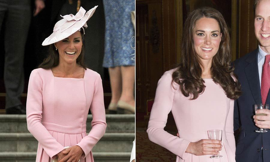 Kate loved this pink Emilia Wickstead dress so much she wore it twice in one month, once at a Diamond Jubilee party at Windsor Castle and 11 days later to attend a garden party at Buckingham Palace.